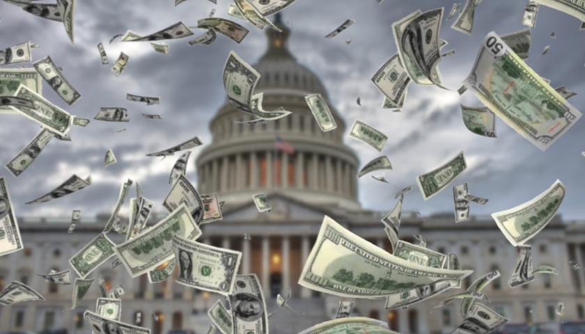 Capitol with money around it