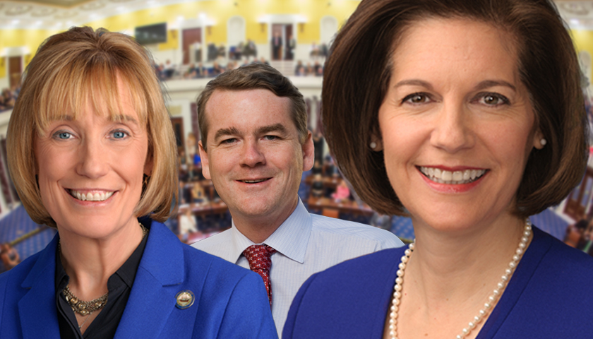Maggie Hassan, Michael Bennet and Catherine Cortez