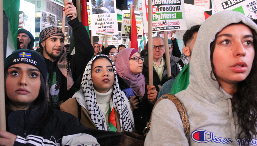 Hundreds march in New York City to support Palestinians and resistance in Gaza