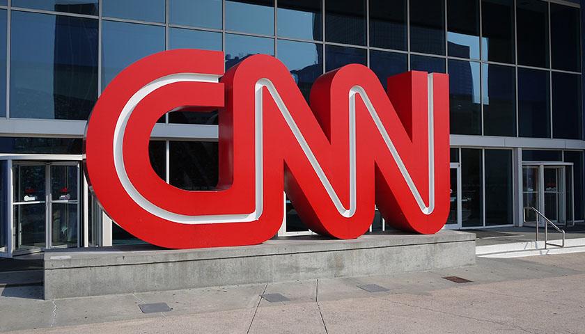 CNN logo outside of Atlanta, Ga., headquarters