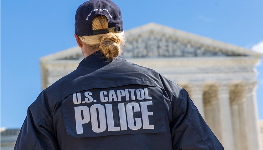 US Capitol Police at The Supreme Court