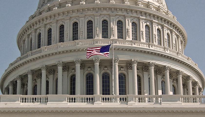 American Flag at US Capitol