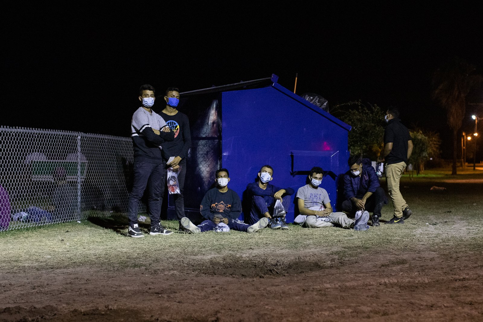 Border officials processed around 100 migrants who surrendered in smaller groups near La Joya, Texas on August 7, 2021. (Kaylee Greenlee – Daily Caller News Foundation)
