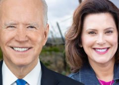 Joe Biden and Gretchen Whitmer