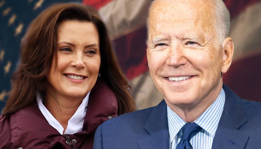 Gretchen Whitmer and Joe Biden