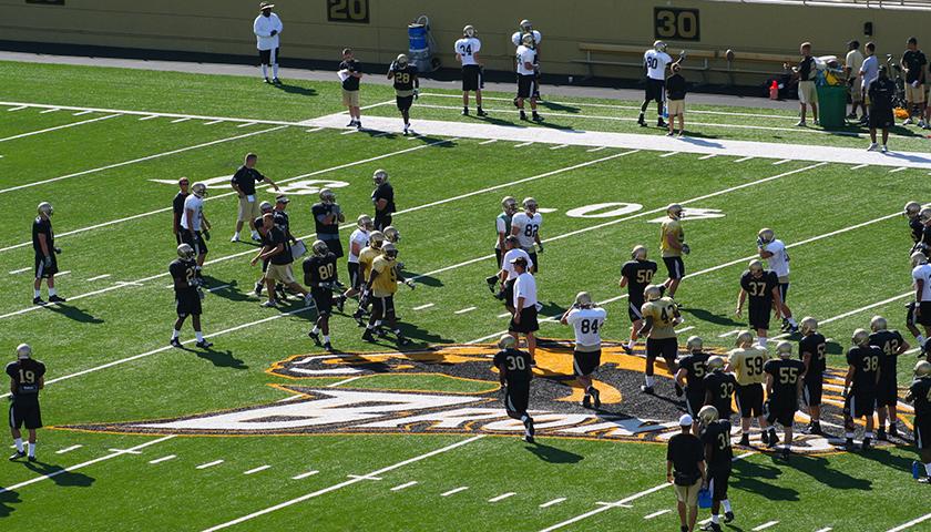 Western Michigan University football practice