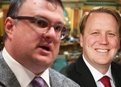 Rep. Matt Hall and Senator Aric Nesbitt