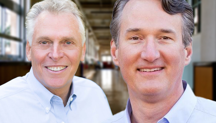 Terry McAuliffe and Glenn Youngkin