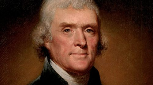 Portrait of Jefferson in his late 50s with a full head of hair